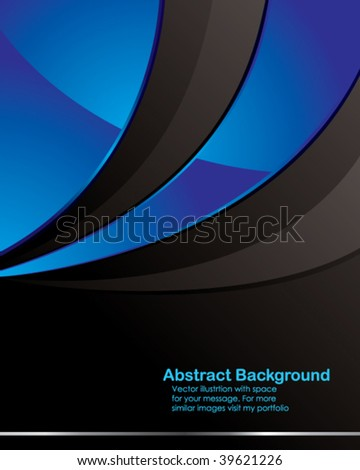 Vector. Clean tech design with space for your message. Easy to edit. - stock vector