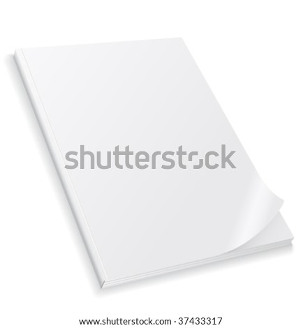 Vector clear magazine's cover - stock vector