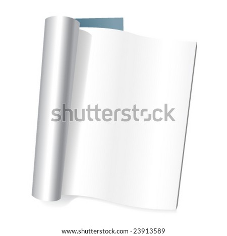 Vector clear magazine's page - stock vector