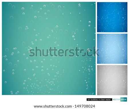 vector clear water bubble background - stock vector
