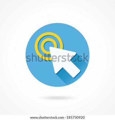 Vector Click Icon - stock vector