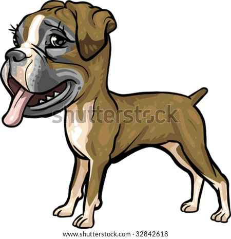 Vector Clip Art Caricature Illustration Boxer Stock Vector ...