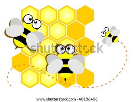 Vector clip-art illustration of a bee - stock vector