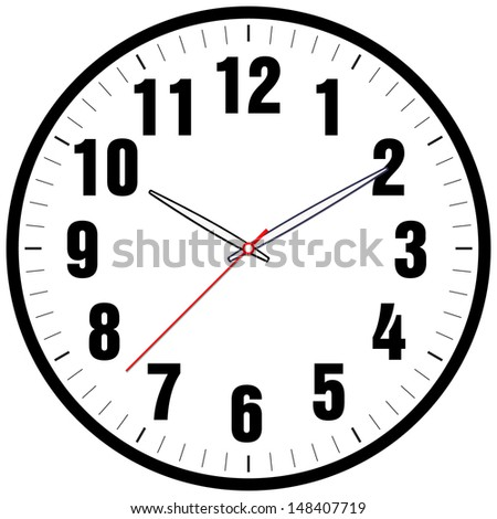 vector clock face stock vector 148407719 - shutterstock