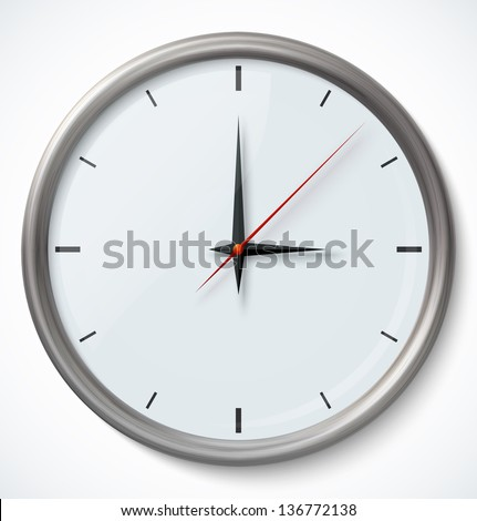Vector Clock Icon. Vector illustration - stock vector