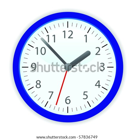 Vector clock in blue frame