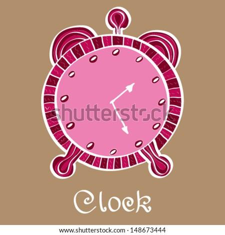 Vector clocks Icon. Alarm clock.  - stock vector