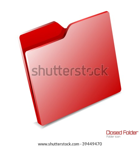 Vector.Closed folder icon isolated.JPG version in my portfolio. - stock vector