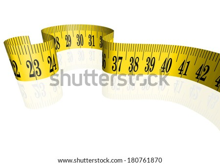 Vector cloth measure / measuring tape 3D  - stock vector