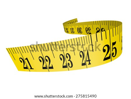 Vector cloth measure / measuring tape 3D