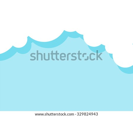 Vector cloud background