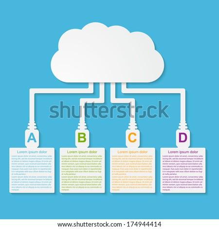 Vector cloud computing concept. Modern design template. - stock vector