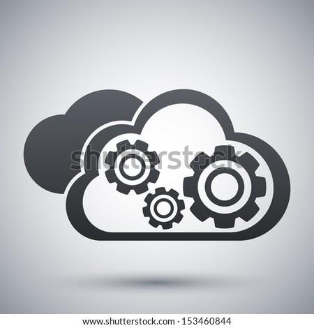 Vector cloud computing icon - stock vector