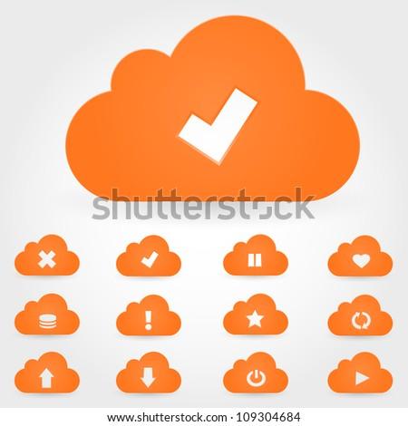 Vector cloud icon - stock vector