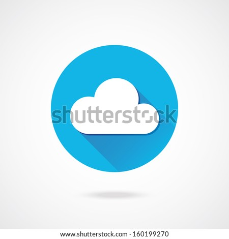 Vector Cloud Icon - stock vector