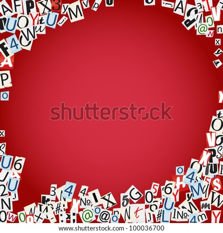 Vector cloud of symbols from newspaper and magazines - stock vector