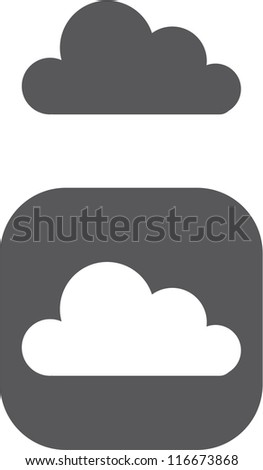vector cloud symbol icon - stock vector