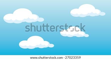 Vector clouds - stock vector