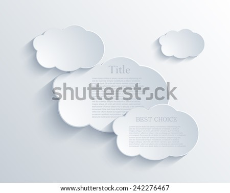 Vector clouds background design element with place for your text. Eps10
