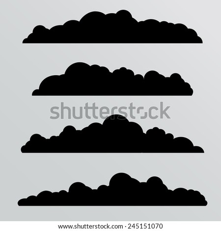 vector clouds collection. twenty seven cute clouds - stock vector