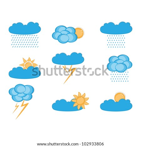 Vector clouds collection. Weather icon for design.