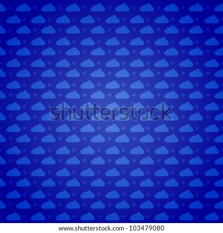 Vector clouds pattern background. Eps10 illustration - stock vector