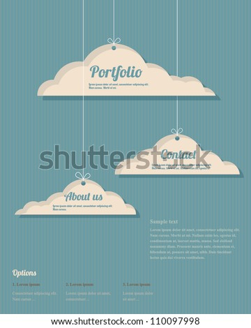Vector clouds webdesign - stock vector