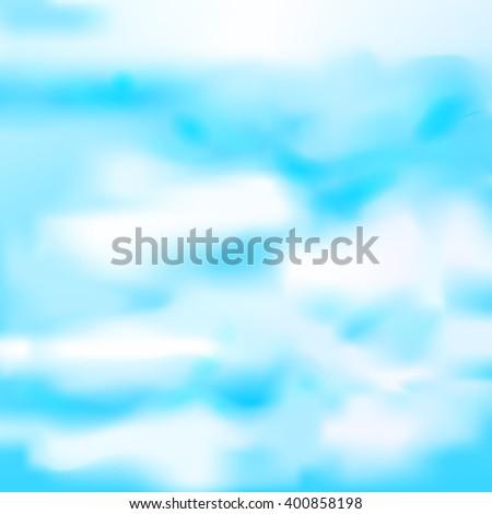 Vector cloudy blue sky. Mesh. - stock vector