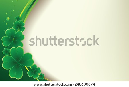 Vector - clover background for the St. Patrick's Day - stock vector