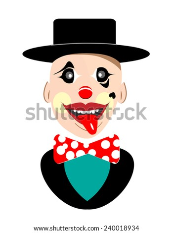 Vector clown artwork  - stock vector