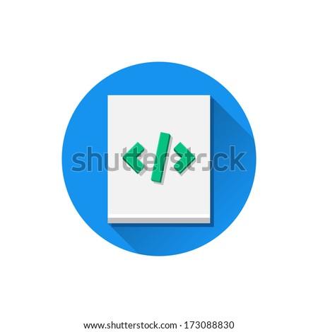 Vector Code Sheet Icon - stock vector