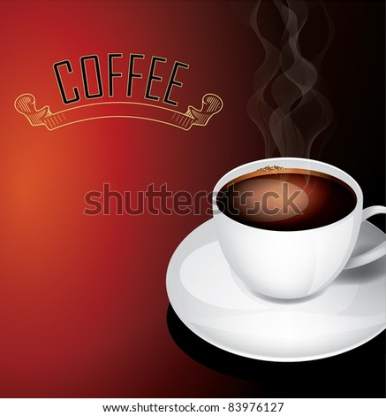 Vector coffee concept - stock vector
