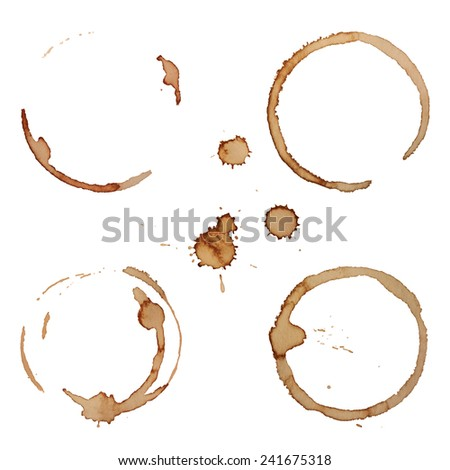 how to clean set in coffee stains