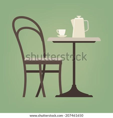 Dining Room Vector Illustration Stock Vector 84942490