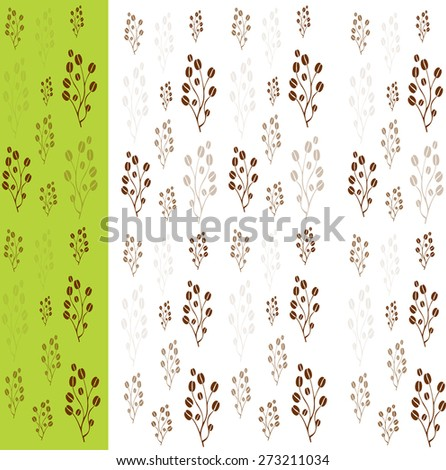 vector coffee tree with coffee beans use for background - stock vector