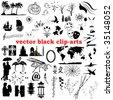 vector collection black clip-arts - stock photo