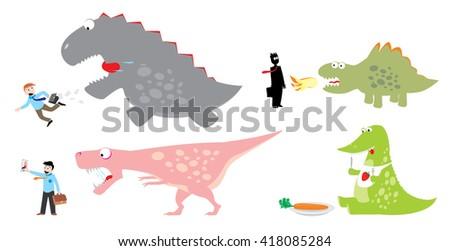 Vector Collection Cartoon monster - stock vector