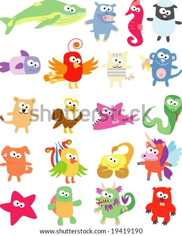 vector collection of animals 39