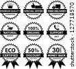 Vector Collection of badges - B&W - stock vector