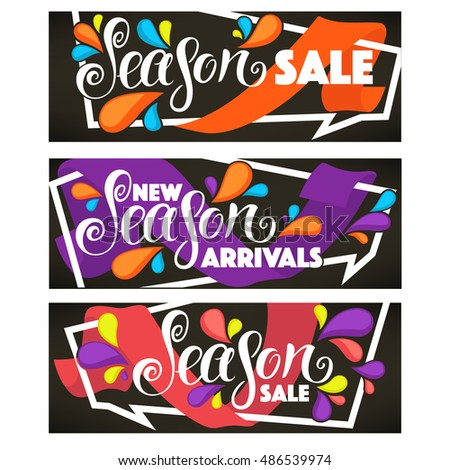 vector collection of bright sale tags, banners and stickers templates