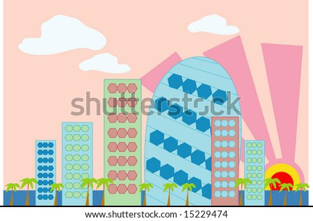 vector collection of buildings 06