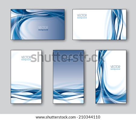 Vector Collection of Business Cards or Gift Cards.  - stock vector