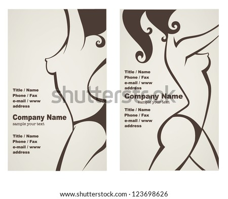 Vector collection business cards posters beauty stock vector vector collection of business cards or posters for beauty salon hairdressers or plastic surgery reheart Gallery