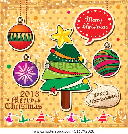 Vector collection of Christmas - stock vector