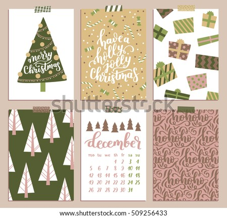 Vector collection christmas poster templates christmas stock vector vector collection of christmas poster templates christmas set of christmas greeting cards bright colors maxwellsz