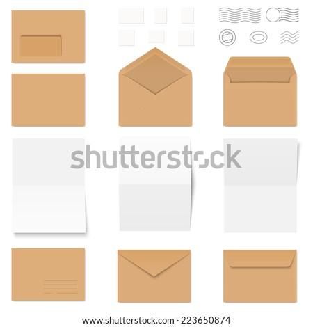 Brown Envelope Images RoyaltyFree Images Vectors – Colored Writing Paper