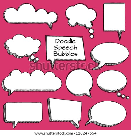 Quote Bubble Cute or Thought Bubbles - stock