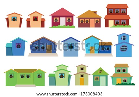 Groovy Different Houses Stock Images Royalty Free Images Vectors Largest Home Design Picture Inspirations Pitcheantrous