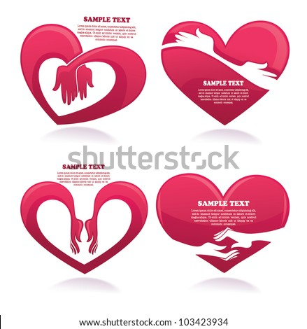 vector collection of love concept stickers, labels and forms - stock vector
