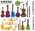 Vector Collection of Musical Instruments - stock vector